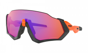 Oakley Flight Jacket Matt Blk & Omg/Prizm Trail