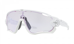 Oakley Jawbreaker Polished White/Prizm Low Light pyöräilylasit